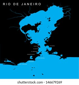 Rio de janeiro map images stock photos vectors shutterstock vector map bay of rio de janeiro brazil gumiabroncs Images