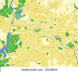 Vector map of berlin.