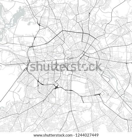 Germany Map Berlin.Vector Map Berlin Germany Black White Stock Vector Royalty Free