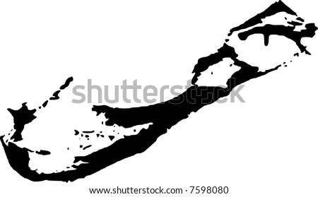 Vector Map Bermuda Stock Vector (Royalty Free) 7598080 - Shutterstock