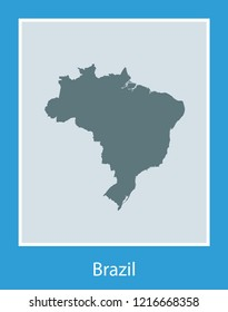 vector map of Brazil