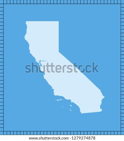 California Map Shutterstockcom.Vector Map California Stock Vector Royalty Free 1279274878