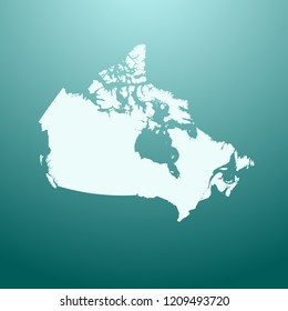 vector map of Canada