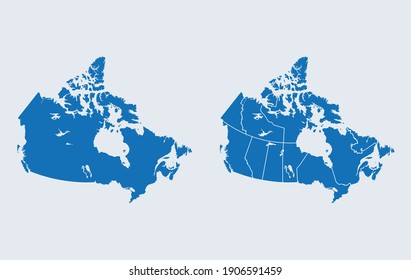 vector map of the Canada