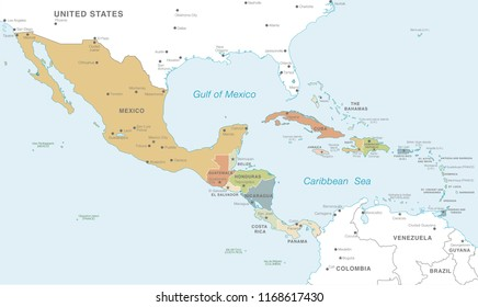 Mexico On Map Capital City Images, Stock Photos & Vectors ...