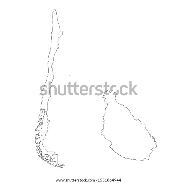 Vector Map Chile Santiago Country Capital Stock Vector Royalty Free 1551864944