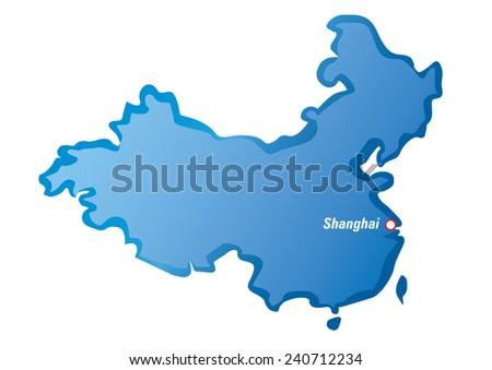 Shanghai Map Of China.Vector Map China Shanghai Stock Vector Royalty Free 240712234
