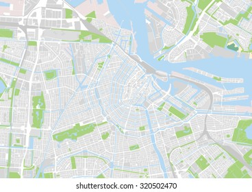 vector map of the city of Amsterdam