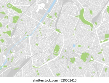 vector map of the city of Brussels