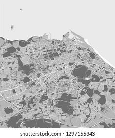 vector map of the city of Edinburgh, Scotland, United Kingdom