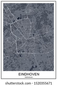 vector map of the city of Eindhoven, Netherlands