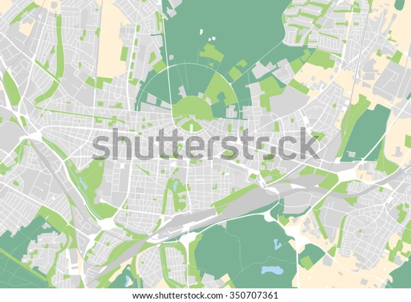 Karlsruhe Map Of Germany.Vector Map City Karlsruhe Germany Stock Vector Royalty Free 350707361