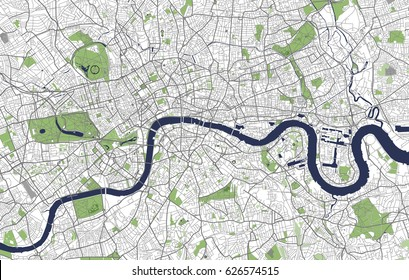 vector map of the city of london great britain