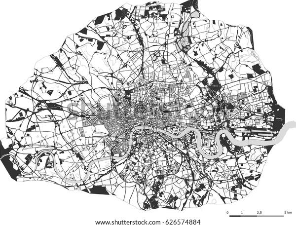 London Great Britain Map.Vector Map City London Great Britain Stock Vector Royalty Free