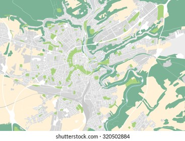 vector map of the city of Luxemburg
