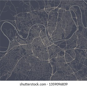 vector map of the city of Nashville, Tennessee, USA
