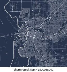 vector map of the city of, Sacramento, California, United States America