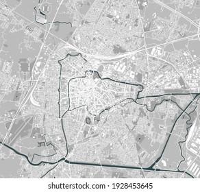 vector map of the city of Padua, Veneto, Italy