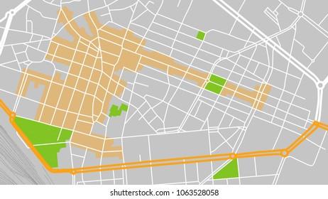 vector map city parma