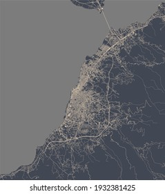 vector map of the city of Patras, Greece