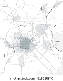 vector map of the city of Peking, China