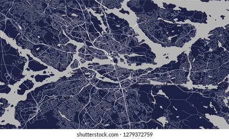 vector map of the city of Stockholm, Sweden