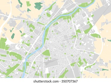 vector map of the city of Valladolid, Spain