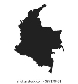 vector map of Colombia