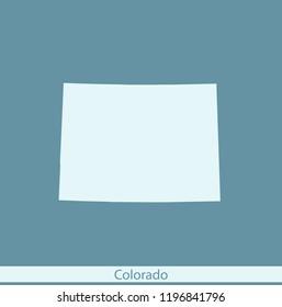 vector map of Colorado