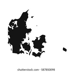 vector map - Denmark
