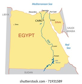 vector map of Egypt