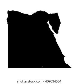 Vector map Egypt. Isolated vector Illustration. Black on White background. EPS 8 Illustration.