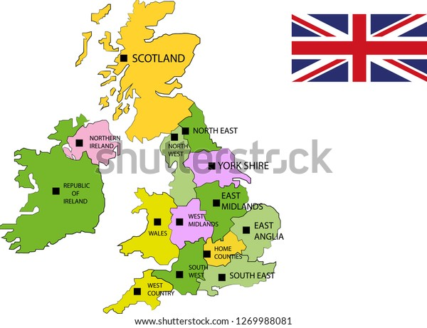 Map Of England Drawing.Vector Map England Uk Map England Stock Vector Royalty Free 1269988081