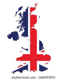 vector map ensign of United Kingdom isolated on white background