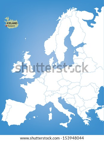 Vector map europe highlighting country iceland stock vector vector map europe highlighting country iceland stock vector 153948044 shutterstock gumiabroncs Gallery