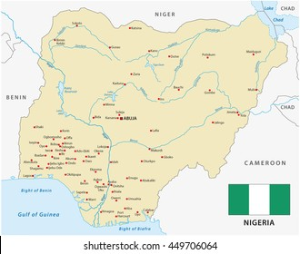 Nigeria map images stock photos vectors shutterstock vector map of federal republic of nigeria with flag gumiabroncs Gallery