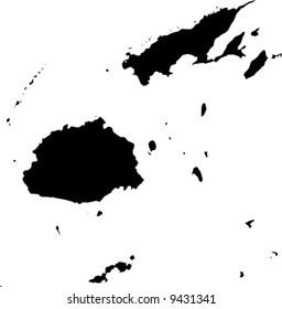 vector map of Fiji