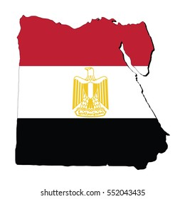 Vector map of the flag of the Egypt