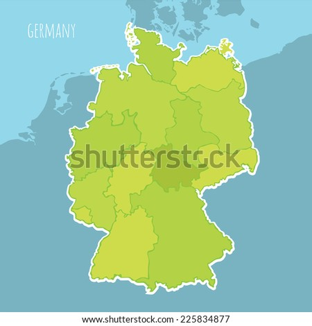 Map Of Germany Divided.Vector Map Germany Divided Into Regions Stock Vector Royalty Free