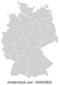 vector map of Germany with state borders