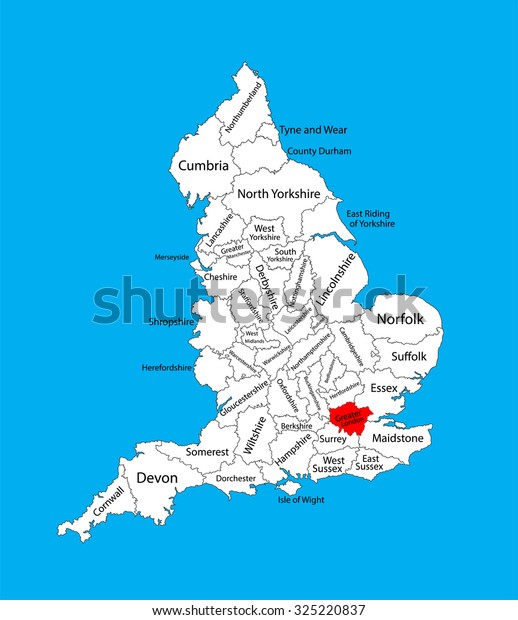 Vector Map Greater London United Kingdom Stock Vector ...