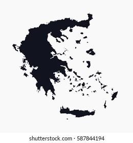 vector map - Greece