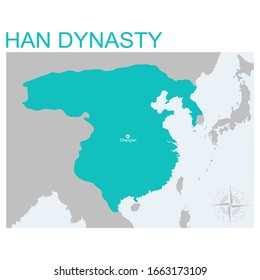 vector map of the Han Dynasty