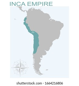 vector map of the Inca Empire