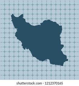 vector map of Iran