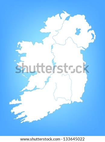 Map Of Ireland Vector.Vector Map Ireland Cities Stock Vector Royalty Free 133645022