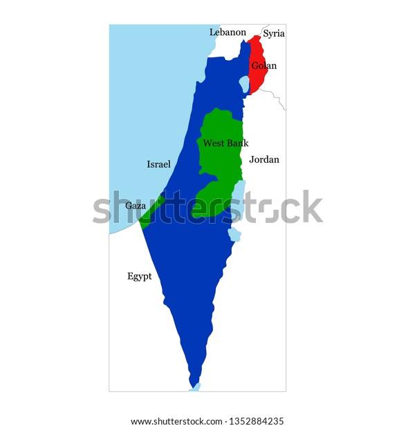 Vector Map Israel Neighboring Countries Stock Vector ...