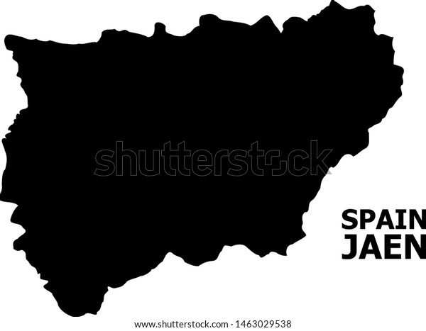 Map Of Spain Jaen.Vector Map Jaen Spanish Province Caption Stock Vector Royalty Free