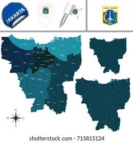 Map Jakarta Hd Stock Images Shutterstock