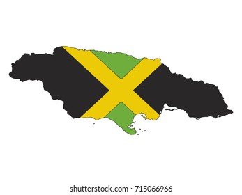 Vector map of Jamaica